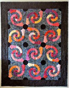 Spiral Galaxies quilt by Anita Fors   Taktil Textil (Sweden)