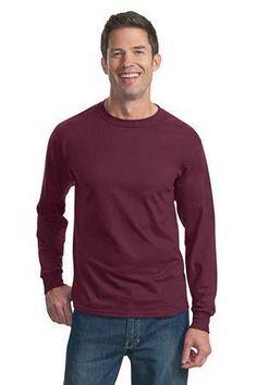 Fruit of the Loom Heavy Cotton HD 100% Cotton Long Sleeve T-Shirt. 4930  #tshirt #menstshirt