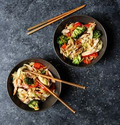 Chicken and Cabbage Lo Mein