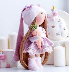 Crochet Animal Patterns, Stuffed Animal Patterns, Homemade Dolls, Felted Wool Crafts, Fabric Toys, Mccalls Sewing Patterns, Christmas Sewing, Sewing Dolls, Pretty Dolls