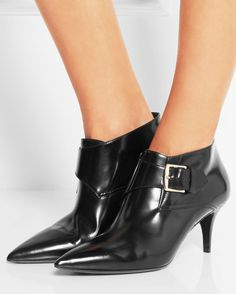 BURBERRY SHOES & ACCESSORIES Leather Ankle Boots | Buy ➜ http://shoespost.com/burberry-shoes-accessories-leather-ankle-boots/