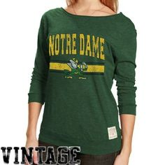 Notre Dame Ladies Long Sleeve Tshirt Size L $39.95