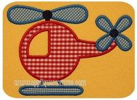 Helicoptor APPLIQUE - 4x4, 5x7 & 6x10; Includes Satin & ZigZag finishes
