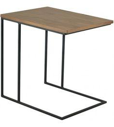The Modern Furniture Range Includes The Myron Side Table - Black Metal + Walnut . Retro Side Table, Black Side Table, Modern Side Table, Black Metal, Modern Furniture, House Design, Living Room, Home Decor, Ideas