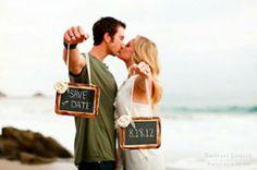 Save the Date, Strand, Kreidetafeln, Hochzeit