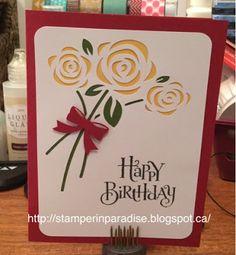 *Stamper in Paradise: Artfully Sent Birthday Flowers