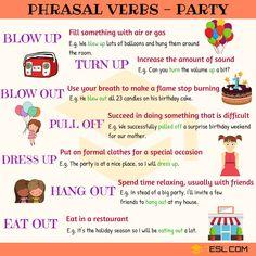 Party Phrasal Verbs
