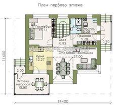 План 1 (прямой) Floor Plans, Houses, House Design, Architecture, City, Home Decor, House Construction Plan, Homes, Homemade Home Decor