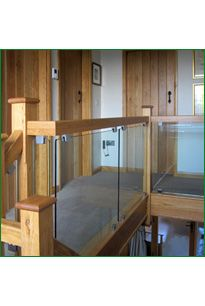 The Beehive Staircase - This American white oak staircase has been designed to allow the light from the stained glass window to flow down the stairs and around the gallery balustrade. Oak Handrail, Metal Spindles, Banisters, Resin Table, Refurbishment, Beehive, Stained Glass Windows, White Oak, Glass Panels