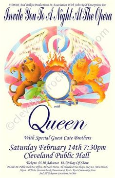 Queen 1976 Cleveland Concert Poster by ClevelandRockAndRoll, $15.00
