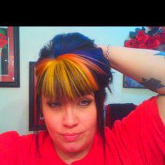 High pigment haircolor.