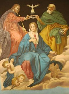 A lithograph of Murillo's Coronation of the Virgin.