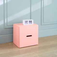 Cube 1 porte KOLORCAZ laque satinée - Rose- Trois suisses