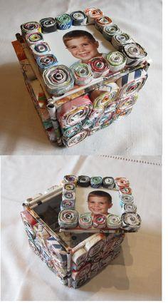 De papel - Caja con foto