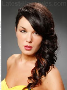 Change up your look in 2020 with one of these gorgeous long hairstyles, haircuts, and colors for women with long hair. Find a beautiful look that works perfectly with your personality, face shape, and hair type. Side Curls Hairstyles, Elegant Hairstyles, Hairstyles Haircuts, Down Hairstyles, Hairdos, Front Hair Styles, Medium Hair Styles, Hair Front, Prom Hair Updo Elegant