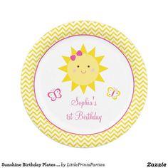 Sunshine Birthday Plates You Are My Sunshine 7 Inch Paper Plate  sc 1 st  Pinterest & Blue Disco Ball and Heels 100th Birthday Paper Plate | Party Paper ...