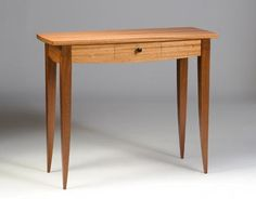 Custom Made Sapele Hall Table With Drawer.
