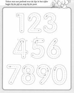 1 10 Writing numbers worksheets for preschool and kindergarten Kids Art & Craft Preschool Writing, Numbers Preschool, Preschool Printables, Preschool Worksheets, Preschool Learning, Kindergarten Math, Preschool Activities, Teaching, Number Worksheets