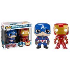 Captain America / Iron Man Double Pack Pop! Marvel Funko POP! Vinyl