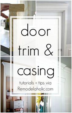 DIY Door Trim and Casing tips and tutorials @Remodelaholic
