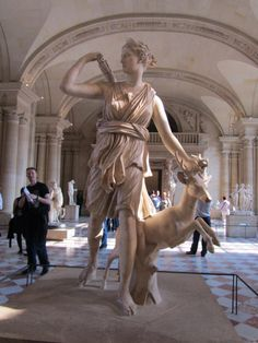 Artemis with a Doe in Louvre