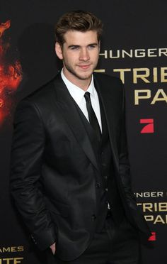 """Liam Hemsworth at the Berlin premiere of """"The Hunger Games"""""""