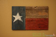 DIY Texas Flag Wall Art from Fencing I would make an American flag following same idea.