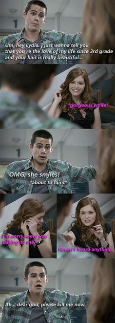 Recuerdo esa escena jajajja pensé lo mismo que Stiles, por favor matame jajaja