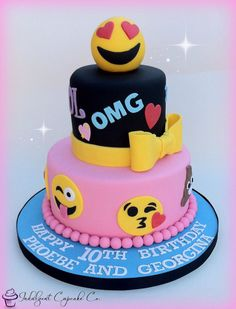 Emoji Birthday Cake - 25 Best Girl Birthday Cakes • The Celebration Shoppe