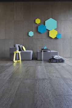 Concreate Dark Grey Floor Panels are an attractive polished concrete finish, honed to an exceptionally high standard that shows the irregularities and character of a typical polished concrete f Timber Flooring, Grey Flooring, Vinyl Flooring, Unique Flooring, Concreate Floors, Royal Oak Floors, Concrete Wall Panels, Concrete Cement, Dark Grey Walls