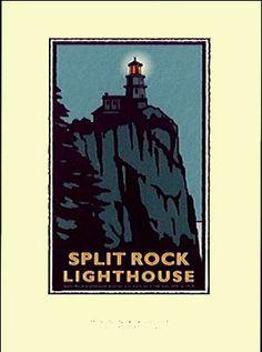 split rock lighthouse print by mark herman
