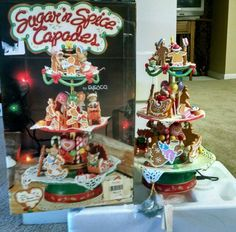 Enesco Vintage 1994 Enesco Sugar and Spice Capades Gingerbread Men Mice Mouse small world of music by BellaDAndalora on Etsy