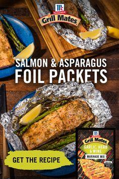 Grilling Recipes, Fish Recipes, Seafood Recipes, Dinner Recipes, Cooking Recipes, Grilled Salmon Recipes, Grilled Food, Grilling Ideas, Baked Salmon