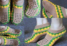 Ravelry: Sunflower Slipper pattern by Dolly Laishram