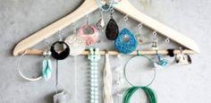 Idee stoccaggio gioielli fai da te per le piccole camere da letto