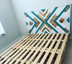 50+ Adorable Pallet Bed Ideas You Will Love - Crafome Pallet Bed Frames, Pallet Beds, Diy Bed Frame, Wooden Pallet Furniture, Wooden Desk, Wooden Pallets, Design Studio Office, Small Bedroom Designs, Home Studio Music