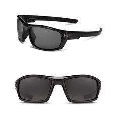 40460e80f618 Under Armour Ranger Sunglasses ANSI Polarized Shiny Black 8630061 000068  for sale online | eBay