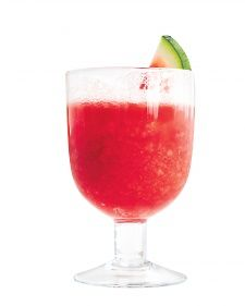 Think of it as the all-American version of Venice's frosty-fruity sgroppino cocktail. Instead of the Italian version's lemons, freeze the flesh of a watermelon and puree it to an ice-cold slush. Add vodka and Prosecco to the mix (or leave them out altogether).