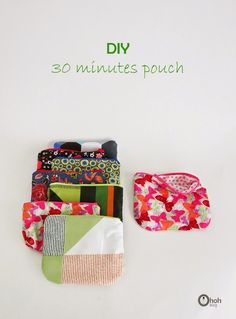 Make a pouch in 30 minutes #sewing #tutorial