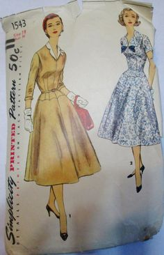 Simplicity 1543 Womens 50s One Piece Dress by Denisecraft on Etsy