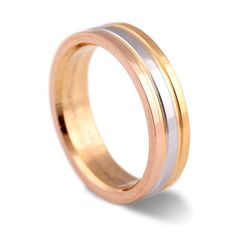 New Fashion Jewelry Mens Womens Three Color Plated Tungsten Stainless Steel Rings Wedding Band Engagement Promise Comfort Fit
