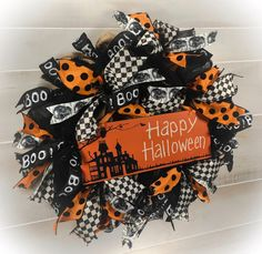 Halloween Wreath Trick or Treat Wreath Fall by DecoMeshWreathWorks