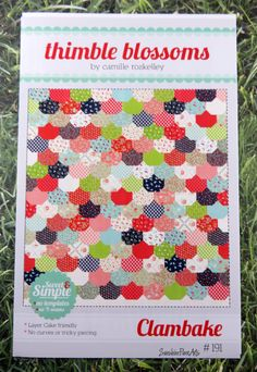Clambake Baby Quilt Pattern Fabric Kit - Moda - Bonnie & Camille - Vintage Picnic - Thimble Blossoms BABY Quilt by SunshineFiberArts on Etsy