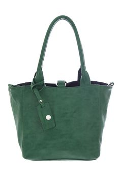 Bags :: Lily Reversible Shoulder Bag Racing Green & Black - The Redletter Club $99.99