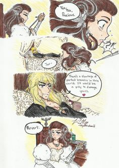 Labyrinth fan art - this one had me snorting, I confess.  Kiyomi-chan16 The Goblin Princess Bride