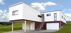 Modernes Traumhaus Fertighaus von Pichler Haus Style At Home, Mansions, House Styles, Home Decor, Flat Roof, Haus, Luxury Houses, Interior Design, Home Interior Design