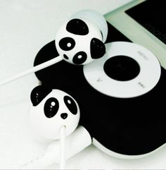 Panda earphones.  aww