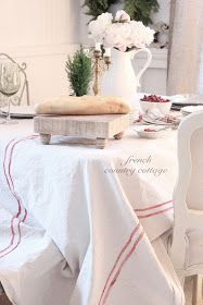 diy how to make this french grainsack inspired tablecloth using a drop cloth