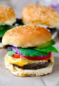 Mushroom Barley Burger with Sriracha Miso Mayo