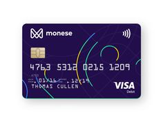 credit card photography Moneses new debit card Debit Card Design, Credit Card Benefits, Atm Card, Rewards Credit Cards, Credit Score, Banking Services, Web Design, Elegant Business Cards, Visa Card